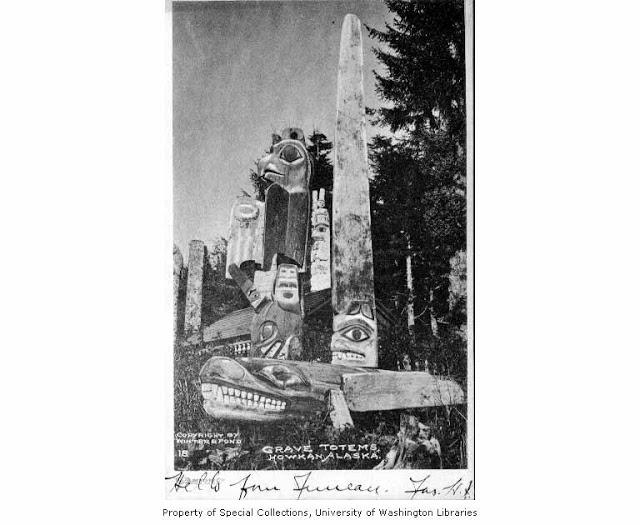 004 native american grave totems howkan 1897