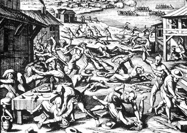 1622 massacre jamestown de bry