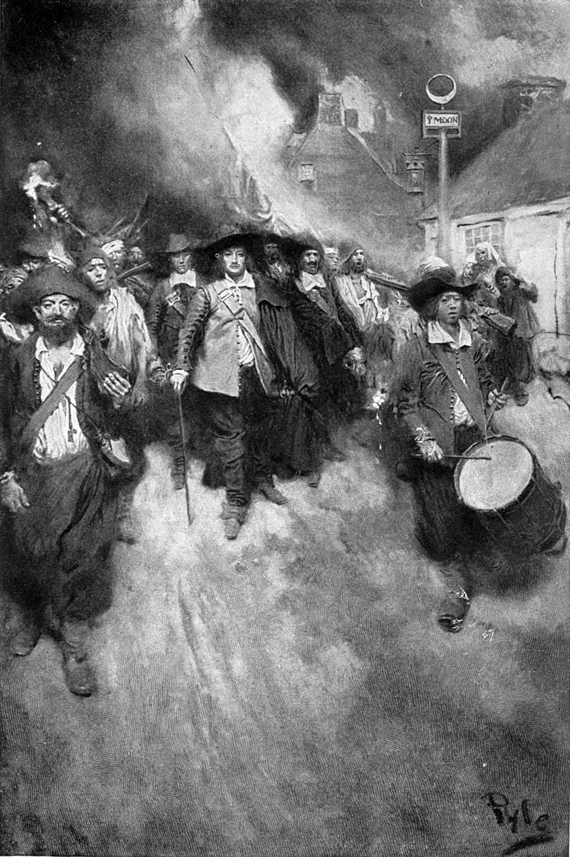 800px howard pyle the burning of jamestown