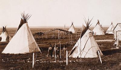 An arapaho camp early 1890s