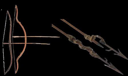 Arc et fleche lance inuit