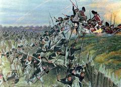 Bataille yorktown prise de la redoute