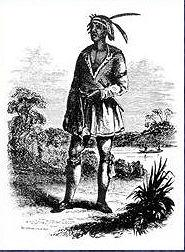 Black seminole cheff john horse drawn