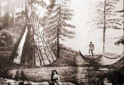 Camp du major hohn cartwright et les beothuk