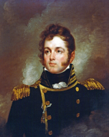 Captain oliver hazard perry portrait in oils by edward l mooney