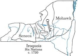 Carte territoire iroquois