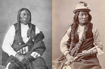Chief blue horse left and chief big mouth twin brothers wagluhe band of the oglala lakotas