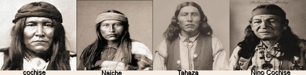 Cochise ses fils et son petit fils