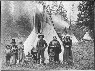 Coeur d alene people and tipis desmet reservation c 1907