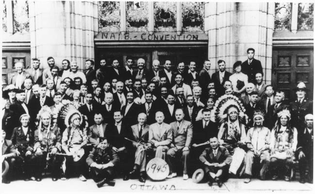Convention north american indian brothehood a ottawa 1945
