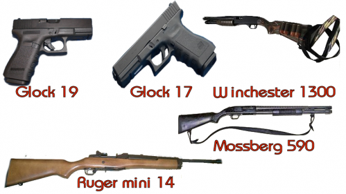 Differentes armes