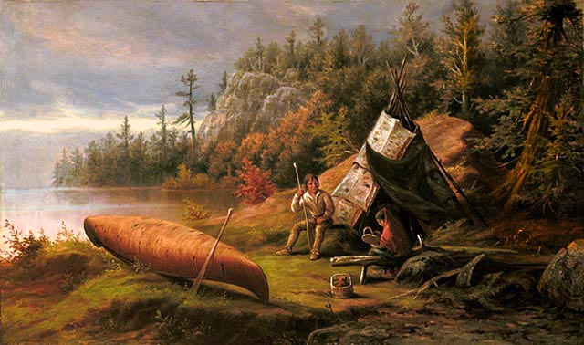 Frederick a verner ojibwa camp northern shore of lake huron 1873