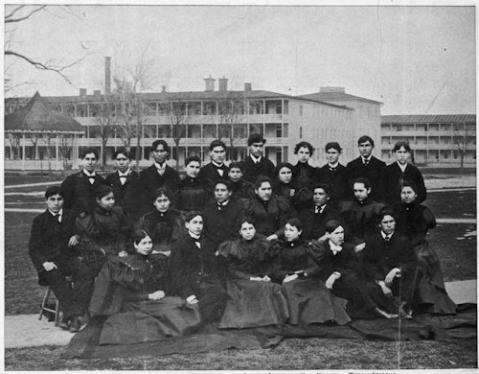 Graduating class of 1897 indian industrial school carlisle pa clipping nara 297250