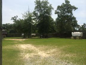 Inside fort mitchell stockade