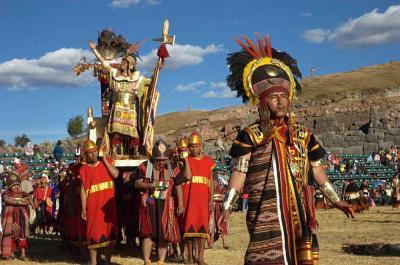 Inti raymi inca sun festival at sacsahuayman june 24 peru