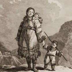 Jean baptiste tilliard femme kamtchadale avec ses enfans dans son habit ordinaire