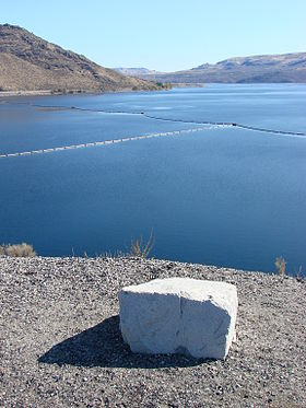 Lake roosevelt behind grand coulee dam eastern washington state usa