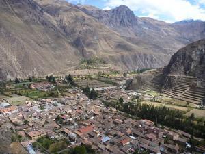 Ollantaytambo vue de la ville