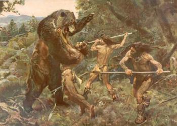 Ours des cavernes chasse