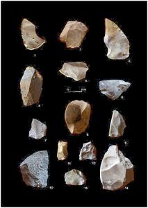 Outils de pierre prehistorique