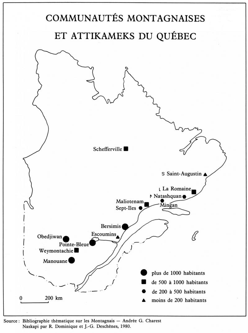 Population montagnaise et naskapis