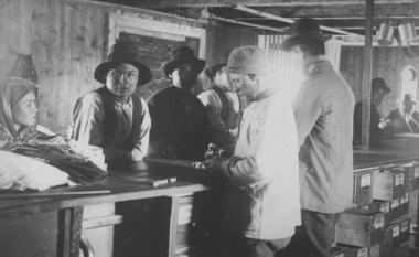 Poste de traite en 1868