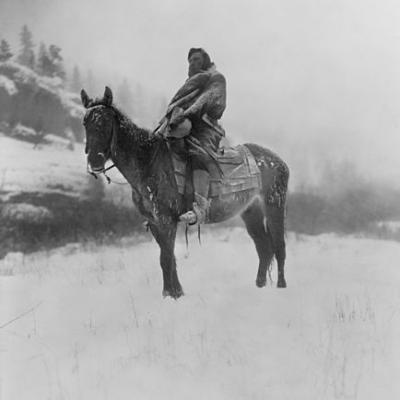 The scout in winter crow 1908 edward s curtis restored ii