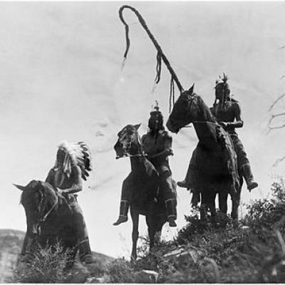 Three crow horsemen edward s curtis 1