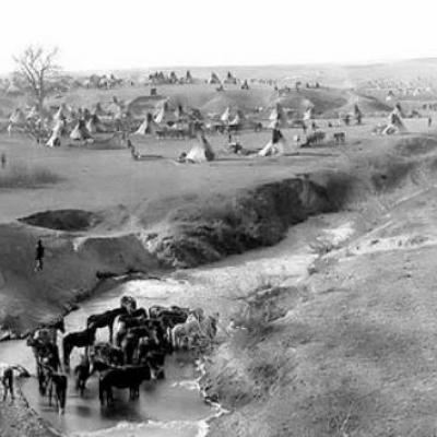 Campement sioux a little bighorn